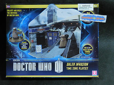 Doctor Who DW Dalek Invasion Time Zone Playset w/ Exclusive Dalek Hoverbout BBC