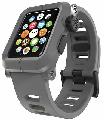 NEW LUNATIK EPIK Polycarbonate Case + Silicone Band for Apple Watch Gray 42mm