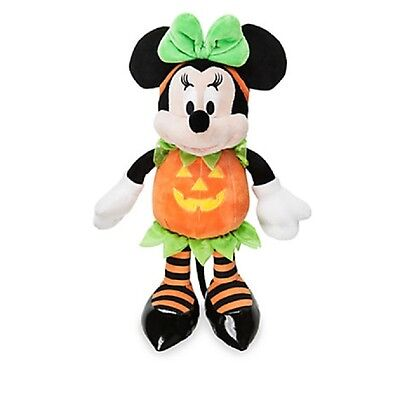 Minnie Mouse Halloween Plush In Pumpkin Costume Authentic Disney Store Patch