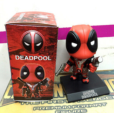 Ultimate Deadpool Action Figures With Shaking Head X-MAN Toy Cool Car Decoration