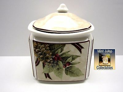 222 Fifth Yuletide PTS Celebration Series Porcelain Lidded Small Canister