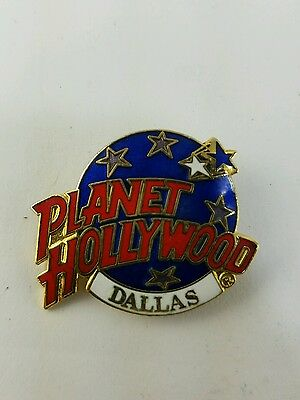 Planet Hollywood Dallas Texas Promo Advertising Button Pin Fast Free Shipping