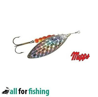 Mepps Aglia Long Spoon Lures Silver/Gold/Rainbow/Redbo - 5 colours  All Size