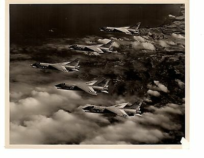 Vought Crusaders F8C VF24 Navy Fighter Aircraft Photo 8x10 1964