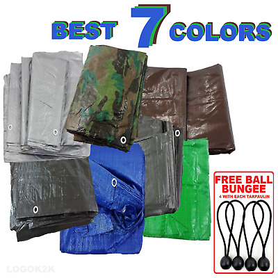 Tarpaulin Regular And Heavy Duty Waterproof Cover Tarp Ground Sheet Few Size