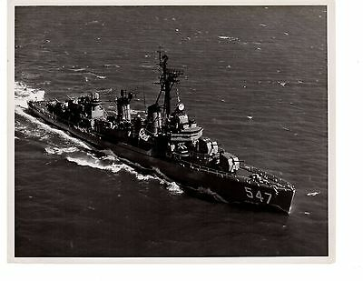USS Cowell DD547 Destroyer Navy Ship Photograph 8x10 BW