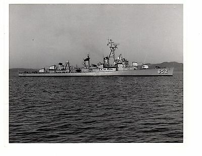 USS Ingersoll DD652 Destroyer Navy Ship Official Photograph 8x10 BW 1963