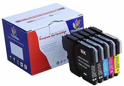 5 Pack LC61 XL Ink cartridge For Brother MFC-290C 295CN 495CW 490CW J615W