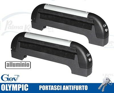 A8919 Ski Roof Rack Ant-Itheft System For Bars Gev Olympic For 3 Pairs Di Sci O
