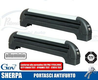 A8936 Ski Roof Rack Ant-Itheft System For Bars Gev Sherpa For 4/5 Pairs Di Sci O