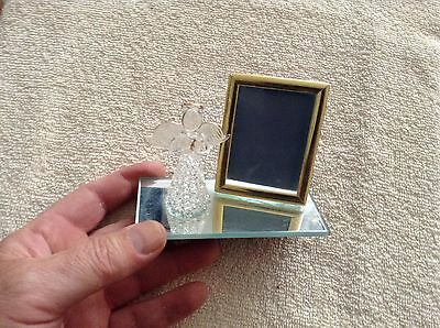 Glass angel figurine with small picture frame