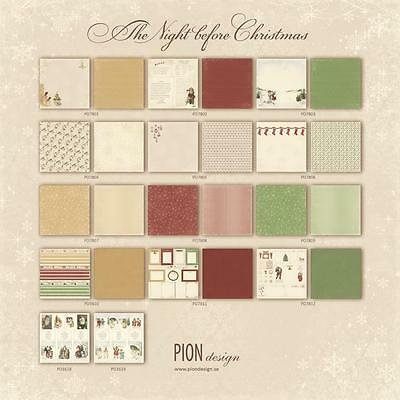 Pion Design - The Night Before Christmas Collection 12 x 12 - Pick From Dropdown