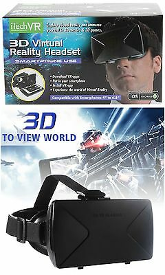 Itech Vr 3D Virtual Reality Headset Glasses Smartphone Android Iphone Goggles