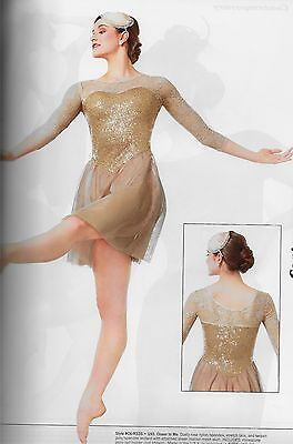 """""""Closer to Me"""" Rose Lace Sleeves Ballet Contemporary Lyrical Dance Costume Dress"""