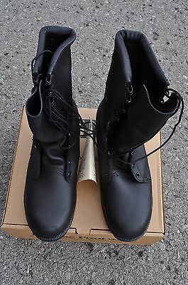 US Army McRae JUNGLE BOOTS All Leather Men's 10 W Black Mildew & Water Resistant