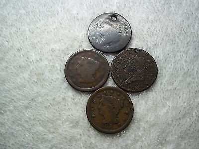 US Large Cents lot of 4 dateless well circulated #X18.b5.16