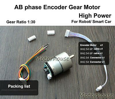 DC5V Micro Gear Motor High Power AB phase w/ Encoder 390 P/R for Smart Car Robot