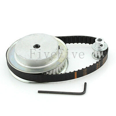 XL 40/10 Teeth 1/5'' pitch Timing Pulley Belt Set Kit Reduction Ratio 4:1 CNC
