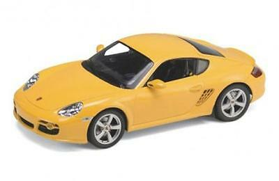 1:24 Diecast Porsche Caymen S Model Car In Yellow From Welly (22488)