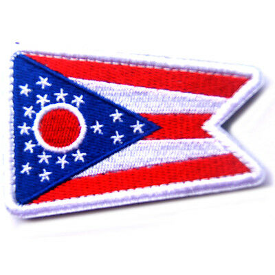 USA Ohio FLAG OH STATE FLAG U.S. ARMY MORALE BADGE TACTICAL HOOK LOOP PATCH ^04