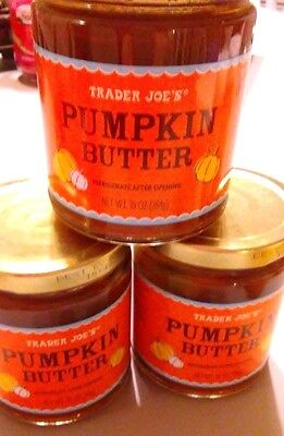3 Jars Of Trader Joe's Pumpkin Butter 10 OZ. Each
