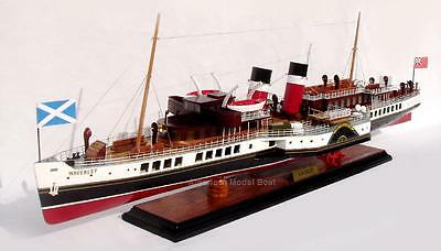 "PS Waverley Passenger Paddle Steam Boat  32"" Handmade Item- Wooden Model Ship"