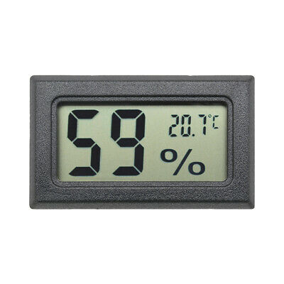 New Digital LCD Indoor Temperature Humidity Meter Thermometer Hygrometer Black