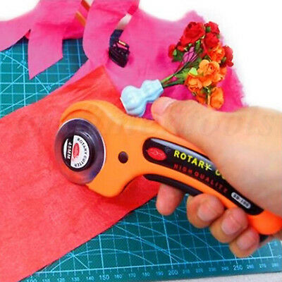 45mm Rotary Cutter Quilters Sewing Fabric Craft Quilting Cutting Blade Cutter