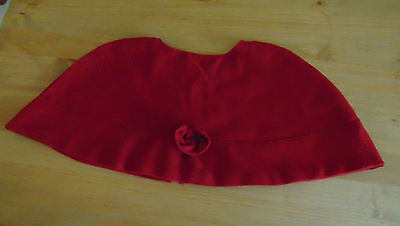 Ww1 Ww2  Nurse Tippet Red Cape  Fully Lined Vintage Qaimns Australian Canadian