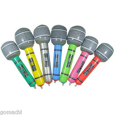 Wholesale 7Pcs/lot Inflatable Musical Voice Birthday Assorted Microphone Singing