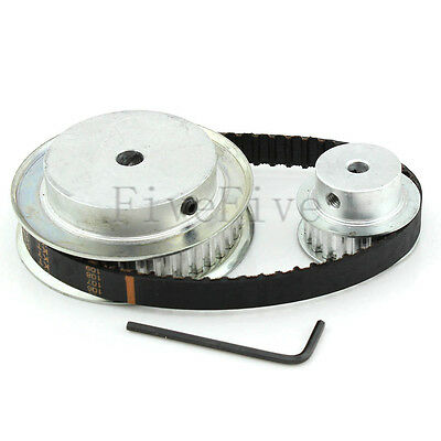 XL 40/20 Teeth 1/5'' pitch Timing Pulley Belt Set Kit Reduction Ratio 2:1 CNC
