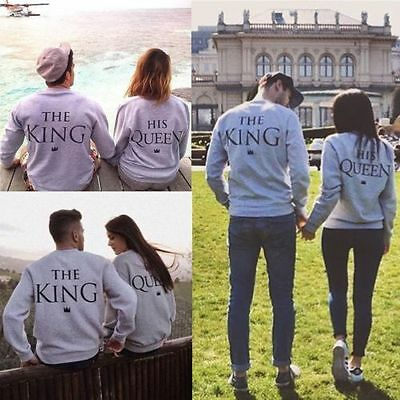 Love Couple T-Shirt  The King and The Queen Matching Shirts Couple Clothes Tops