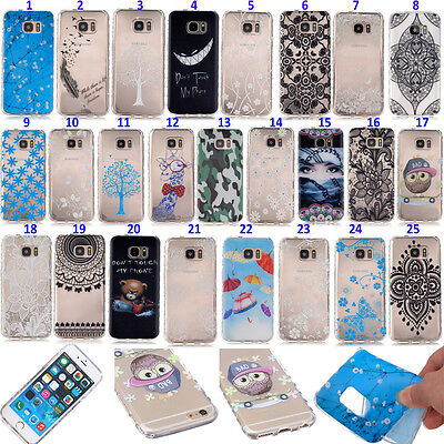 Neuf Housse Etui Coque Cover Souple TPU Silicone Protection Pour Samsung&iPhone
