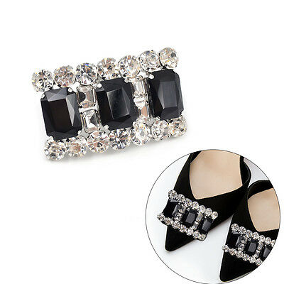 Rectangle Crystal Shoes Clip Removable Fashion High-heel Accessories New 1 Pc