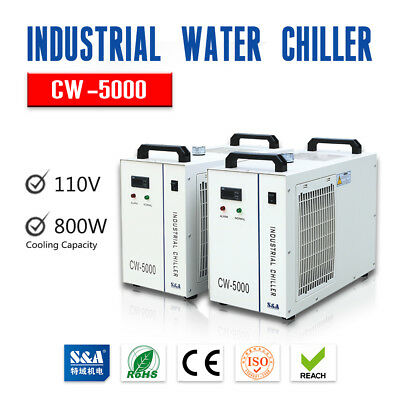 S&A 110V Industrial Water Chiller CW-5000DG for 80W/100W Laser Tube Cooling USA!