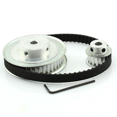XL 40/16 Teeth 1/5'' pitch Timing Pulley Belt Set Kit Reduction Ratio 2.5:1 CNC