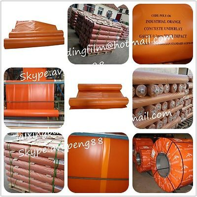 Orange Plastic Med Impact 200 Micr 2mx50m 100m2 Rolls Brand New