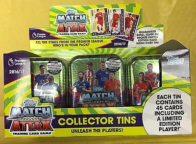 MATCH ATTAX Pemier League 2016 17 Collector Mini Tin 45 CARDS LIMITED EDITION