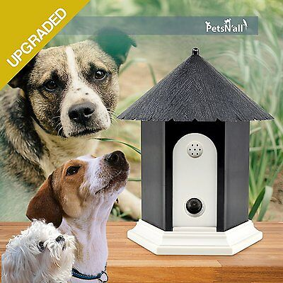 Pet Safety Outdoor Ultrasonic Anti Dog Bark Control Deterrent Discreet Birdhouse