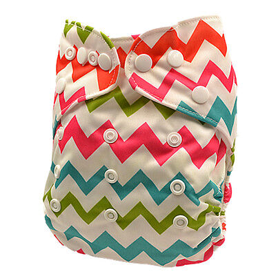 New Modern Cloth Nappy Baby Girl MCN Reusable Adjustable One Size Nappy (D133)
