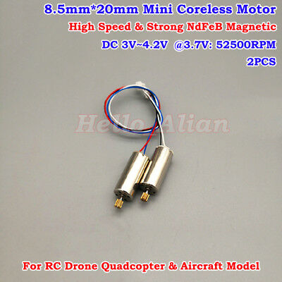 2 DC 3-12V 29712RPM RC Hobby Aircraft High Speed Magnetic 180 Micro Motor Top