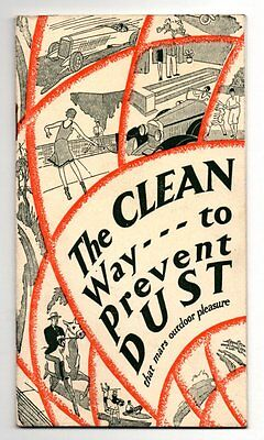 CLEAN WAY TO PREVENT DUST SOLVAY CALCIUM CHLORIDE 1929 Promo Booklet New York