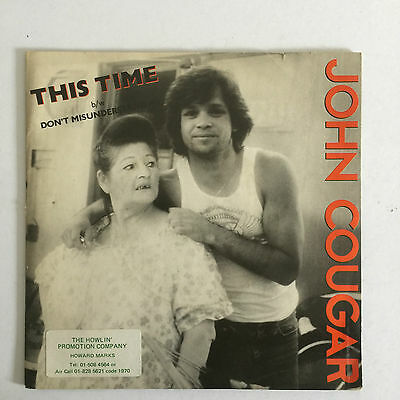 "Johnny Cougar - This Time - 1980 UK - Riva - RIVA 25 - 7"" Single"
