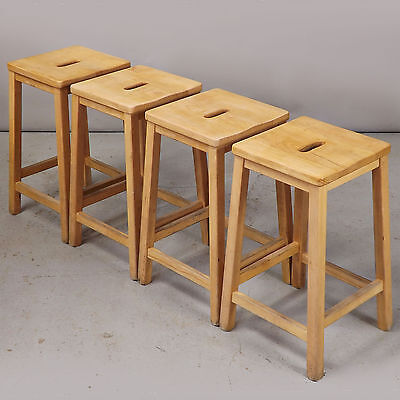1 Stool - Lab / School / Bar - Solid Beech, Vintage, Retro (delivery available)