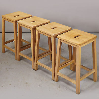 Stool - Lab / School / Bar - Solid Beech, Vintage, Retro (delivery available)