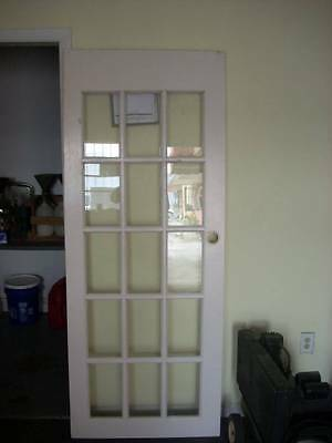 1 Expensive Glass Framed Door and Trim