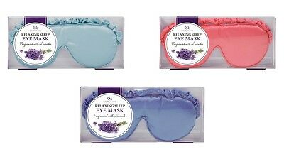 Aroma Home Luxurious Lavender Scented Silky Satin Eye Sleep Mask In 3 Colours