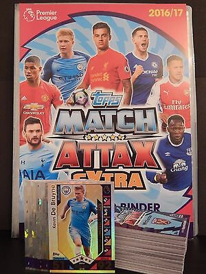 Match Attax 2016 2017 16 17 Collector Binder + 110 Cards + Le1 Kane Gold Limited