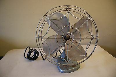 Vintage Eskimo Electric Fan W/ Metal Spider Cover Works
