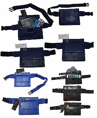"""Flat Waist Pouch, Leather Mini waist bag Small Waist pouch Fanny Pack, up to 44"""""""